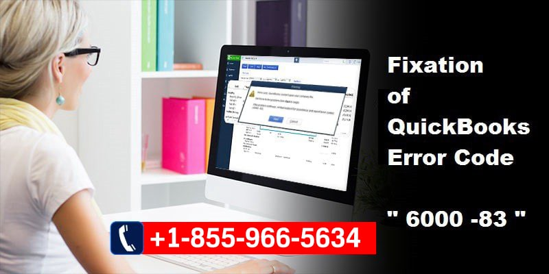 QuickBooks  error occurred -6000, -83